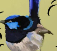 Superb Blue Wren Australian Bird Sticker