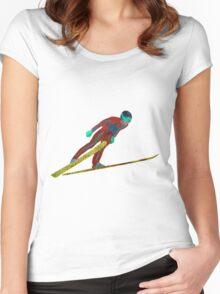 Ski Jumper Women's Fitted Scoop T-Shirt