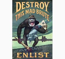 Vintage World War I German Gorilla Propoganda Unisex T-Shirt