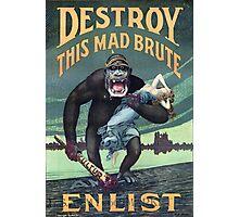 Vintage World War I German Gorilla Propoganda Photographic Print