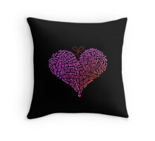 I Love You Word Cloud Heart Be My Valentine  Throw Pillow