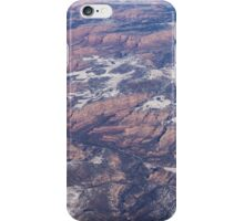 Red Earth Canyons with a Dusting of Snow iPhone Case/Skin
