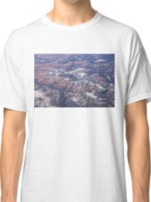 Red Earth Canyons with a Dusting of Snow Classic T-Shirt