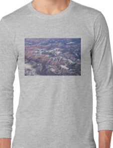 Red Earth Canyons with a Dusting of Snow Long Sleeve T-Shirt