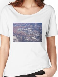 Red Earth Canyons with a Dusting of Snow Women's Relaxed Fit T-Shirt