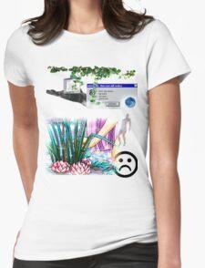 Mystic Lake Vaporwave Aesthetics Womens Fitted T-Shirt