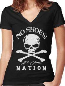 No Shoes Nation Kenny Chesney DR (1) Women's Fitted V-Neck T-Shirt