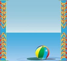 Beachball Floating On Water by smoothimages