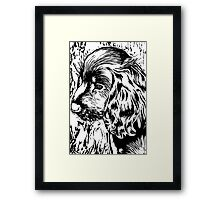 Cute Black and White Puppy Framed Print
