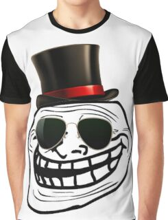Cool Troll Face Graphic T-Shirt
