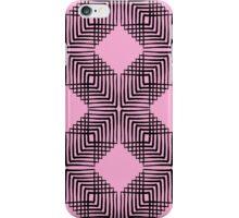 Pink & Black Box Pattern iPhone Case/Skin