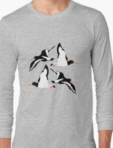 Oyster Catcher Pattern Long Sleeve T-Shirt