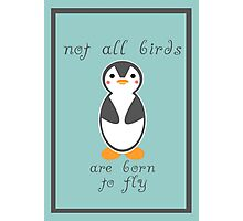 Not All Birds are Born to Fly Photographic Print