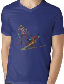 Nordic Combined Mens V-Neck T-Shirt
