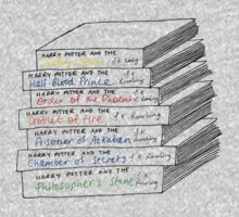 Harry Potter Book Stack by Louise Norman
