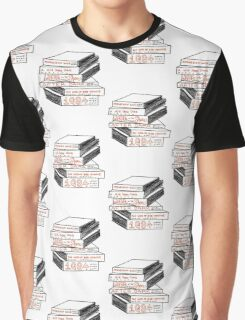 Haruki Murakami Book Stack Graphic T-Shirt