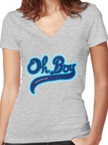 Oh Boy! - Quantum Leap Women's Fitted V-Neck T-Shirt