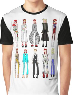 The stages of Bowie Graphic T-Shirt