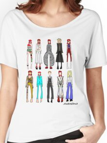 The stages of Bowie Women's Relaxed Fit T-Shirt