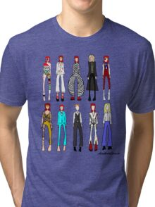 The stages of Bowie Tri-blend T-Shirt