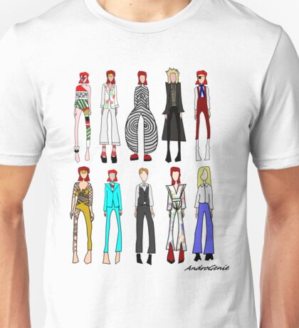 The stages of Bowie Unisex T-Shirt