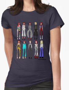 The stages of Bowie Womens Fitted T-Shirt