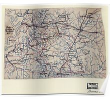 Civil War Maps 2099 Map of the environs of Vicksburg and Jackson Mississippi Poster
