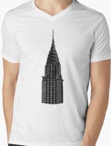 Chrysler Building New York Mens V-Neck T-Shirt