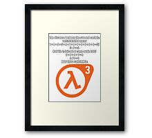 Halflife 3 confirmed Framed Print