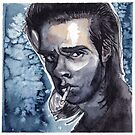 Nick Cave watercolor by kahahuna