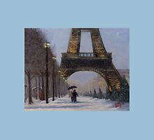 Eiffel tower in the snow Unisex T-Shirt