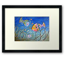 Sharing art! Framed Print