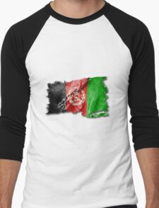 Afghan torn flag with structure. Men's Baseball ¾ T-Shirt