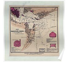Civil War Maps 1610 Sketch of Charleston Harbor Poster