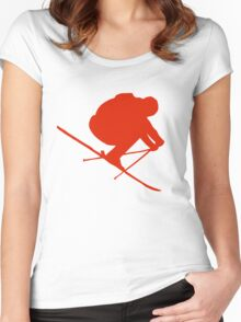 Skier  Women's Fitted Scoop T-Shirt