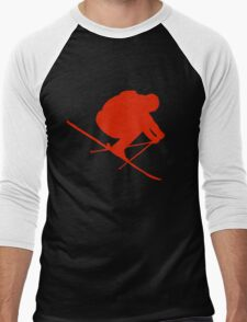 Skier  Men's Baseball ¾ T-Shirt