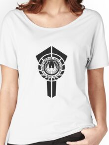 battlestar galactica logo - So Say We All Women's Relaxed Fit T-Shirt