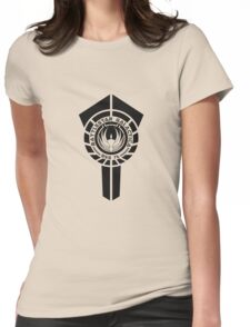 battlestar galactica logo - So Say We All Womens Fitted T-Shirt