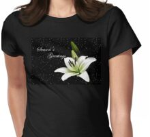 Season's greetings - white lily Womens Fitted T-Shirt