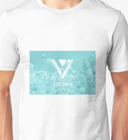 Seventeen Joshua - Blue Flowers Unisex T-Shirt