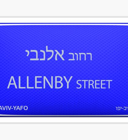 Allenby Street Tel Aviv, Israel  Sticker