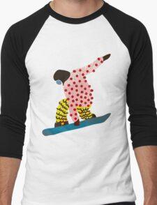 Snowboarder Men's Baseball ¾ T-Shirt