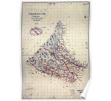 Civil War Maps 0470 Greene Co Virginia Poster