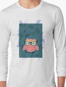 Cute Wild Life Hipster owl. Long Sleeve T-Shirt