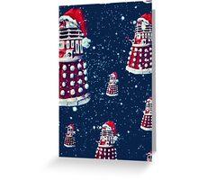 Doctor Who Daleks Christmas Greeting Card