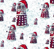 Doctor Who Daleks Christmas by CindyetBilly