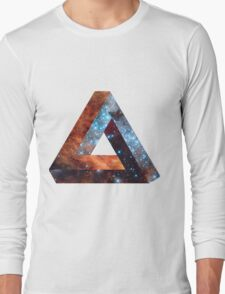 Impossible triangle galaxy Long Sleeve T-Shirt