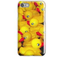 Yellow rubber duckies iPhone Case/Skin