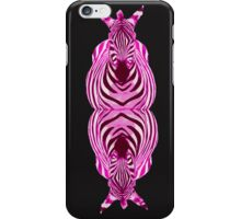 Pink Zebra duo iPhone Case/Skin