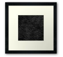 BLACK CAT FUR Framed Print